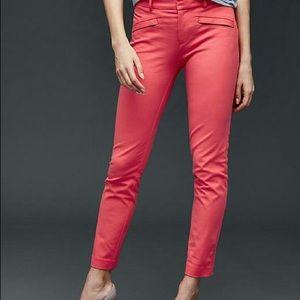Gap hot pink coral skinny dress pants 4R